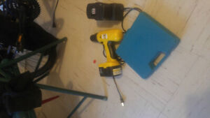Power Fist 18 volt cordless drill. Charger and two batteries.