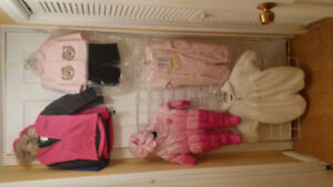 Baby Girl Jacket and Car Bag, Size 3/6, 6/9, 18 and 3T