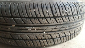 6 P175/65/r14 tires excellent tread on 4x100 rims ($75 each)