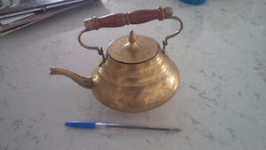 Vintage Brass Tea Kettle - Made In India