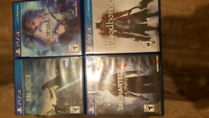 Ps4 games - final fantasy, bloodborne, uncharted