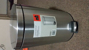 brand new never used stainless steel garbage bin 12 litres