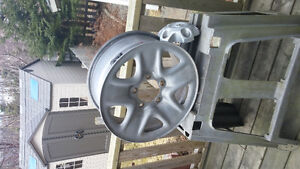 4 new snow tires, rims, sensors, and hubcaps St. John's Newfoundland image 3