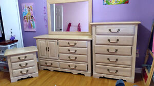 Set of matching dressers and bedside table for sale