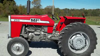 MF Massey Ferguson 255 power adjust rims and parts
