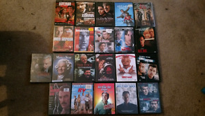 21 dvds to go for $40.00 or $2.00 eaxh
