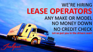OWNER OPERATORS AND LEASE OPERATORS WANTED 90% OF RATE