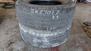 Pair of 2 Cooper Discoverer HT 265/70R17 tires (50% tread life)