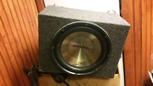 Insignia 12 inch subwoofer with amp