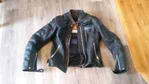 Womens Leather Icon Motorcycle Jacket