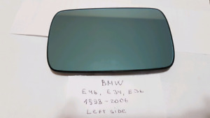 BMW E46 (E34 , E36 )OEM LEFT SIDE MIRROR GLASS