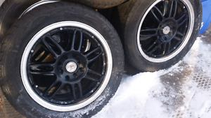 "16"" 4 bolt rims with tires"