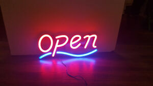 BEAUTIFUL LED NEON OPEN SIGN