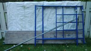 Steel scaffold with Aluminum Platforms