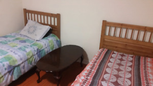 One furnished shared room