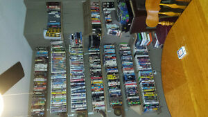 VHS collection and player