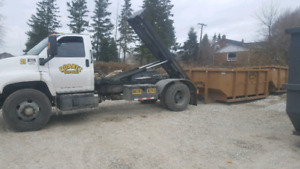 2008 gmc c7500 heavy spec roll off with flatbed