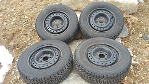 P205/65R15 Studded Nordic Winters on Rims