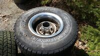 Used set of 4 tires on rims