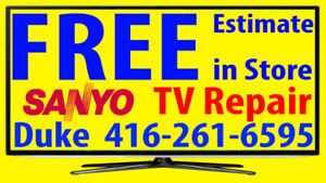 Sanyo TV repair LED HDTV, LCD TV, NO POWER, No Picture