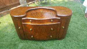 Art Deco Walnut vanity