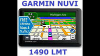"Garmin nuvi 1490 Bluetooth, 5"" GPS w/ Lifetime Maps and Traffic."
