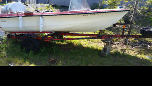14 foot Boat with motor and trailer