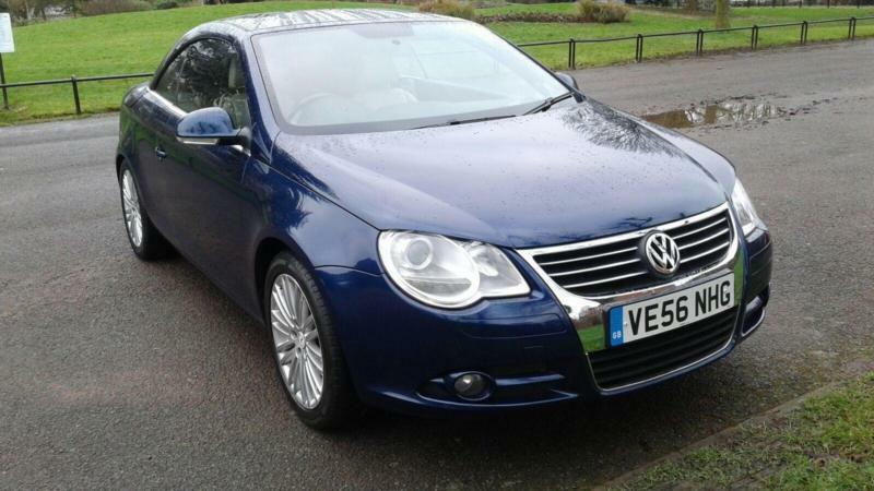 2007 volkswagen eos 2 0 t fsi sport convertible low 119k full mot px swaps in coventry west. Black Bedroom Furniture Sets. Home Design Ideas