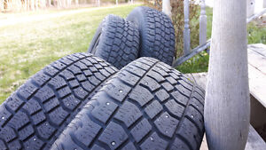 215/70R16 Studded Winter Tires On Rims, Set of 4, $400