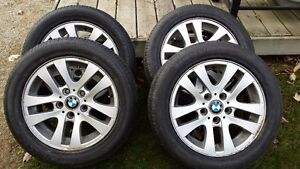 Summer tires on BMW wheels Cambridge Kitchener Area image 1