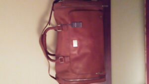 PETER WERTH LEATHER HOLD-ALL duffel bag ...BRAND NEW