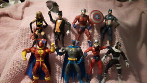 Lot of Premium DC and Marvel Superhero Action Figures  (8)