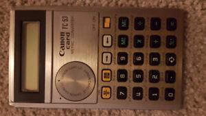 Rare Vintage Calculator: Canon Card FC-53 Metric Converter