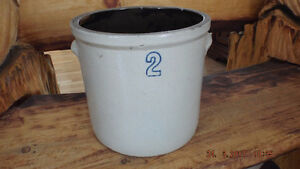 2 Gallon Antique Crock