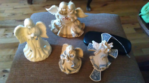 Angels, cross and small angel match..4 pieces /$15