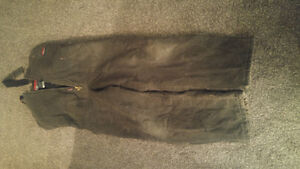 Pipe line insulated overalls - size large -