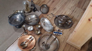 Silver....silverplated and copper pieces