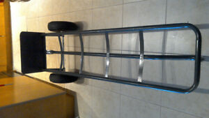 Loop Handle Steel Hand Truck with Rubber Wheels
