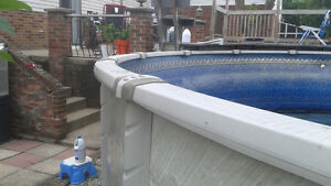 24 feet above ground Pool, Installation & New Liner are included