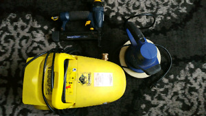 For sale pressure washer, brade nailer and electric polisher