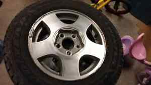 205-65-15 Winter tire and rims for sale