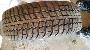 4 federal winter tires on rims