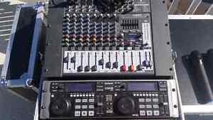DJ/PA system with wireless microphones