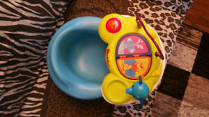 Bumbo Chair With Tray and Tray Top Activity Playtop Safari