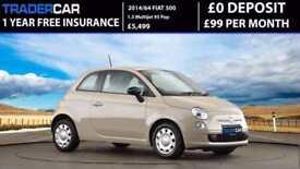 Fiat 500 1.3 Multijet 2014 POP - FREE INSURANCE