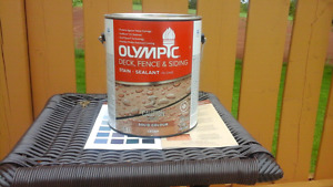 Olympic Solid Latex Stain (Cedar)