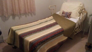 hospital bed with bedding for sale