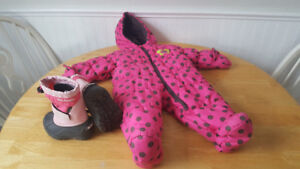 Baby Winter 6-9months Snowsuit, and Infant Size 5 Columbia Boots