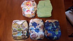 Blueberry and Smart Bottom Diapers
