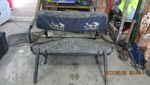 folding ramp and seat for side x side